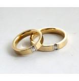 Christian Gouden trouwringen met diamanten geel goud