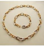 Christian Gouden collier en armband met briljanten