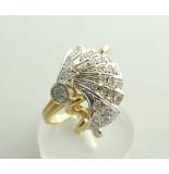 Christian 18 karaat gouden ring met diamanten wit goud