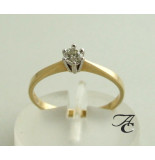 Atelier Christian 14 karaat gouden ring met diamant in klauwzetting wit goud