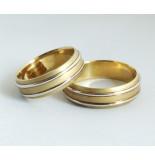 Christian Gouden bicolor trouwringen
