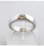 Christian 18 karaat ring met diamant wit goud
