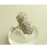 Christian Art deco ring met diamanten wit goud