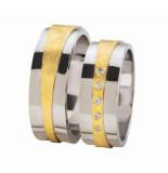 Christian Diamond coated trouwringen met diamanten