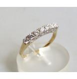 Casio Ocn 14 karaat gouden zirkonia ring