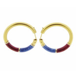 Christian Emaille oorbellen geel goud