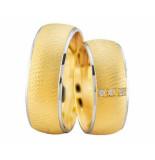 Christian Gouden trouwringen met wit gouden rand