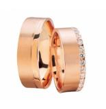 Christian Rosé gouden trouwringen met diamanten