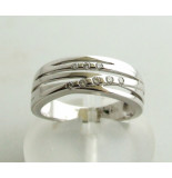 Christian Ring met diamanten wit goud