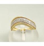Casio Ocn zirkonia ring geel goud