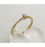 Christian Zespoots gouden ring met zirkonia