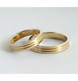Christian 18 karaat wit- en geel gouden ring