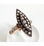 Casio Ocn gouden ring met roosdiamant