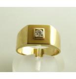 Christian 14 karaat gouden zegelring met zirkonia geel goud