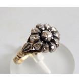 Christian Ring met roosdiamant geel goud