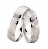 Christian Diamanten trouwringen wit goud