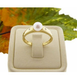 Christian Parel ring met diamanten geel goud