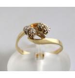 Christian Gouden bicolor ring met diamanten