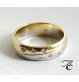 Atelier Christian Bicolor ring met briljanten