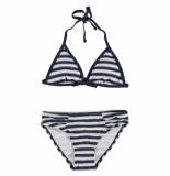 Nickey Nobel Donker blauwe bikini stripy texture