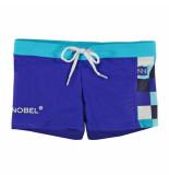 Nickey Nobel Kobalt zwembroek met blokjes blauw