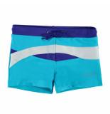 Nickey Nobel Witte kinder zwembroek colorblock blauw