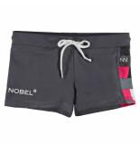 Nickey Nobel Donker zwembroek met blokjes print grijs