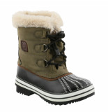 Color Kids Dark army kinder snowboots trippe tot -15°c groen