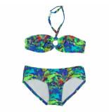 Just Beach / groene bandeau bikini brazilie feather blauw