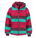 Minymo /groen gestreepte kinder ski jas gam 14 8.000 waterkolom roze