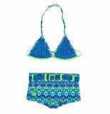 Zee & Zo Zee & zo triangle meisjes bikini grace bay ikat blue blauw