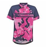 Rogelli Pink meisjes fietsshirt camo blauw