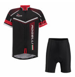 Rogelli Fietskledingset cycling short en gara mostro /rood zwart