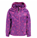 Kamik Softshell jas met sterren paars
