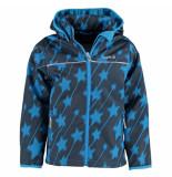 Kamik Donker softshell jas met kobalt sterren blauw