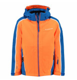 Dare2b /blauwe jongens ski jas beguile waterproof oranje