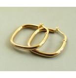 Christian Gouden ruiten oorbellen geel goud