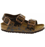 Birkenstock Milano colour sprays brown narrow bruin
