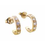 Christian Rose gouden oorstekers met zirkonia geel goud
