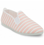 Flossy Style Instapper dames italica baby pink gold stripe roze