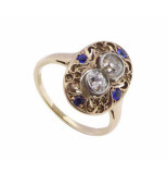 Christian 18 karaat gouden saffieren en diamanten ring
