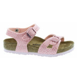 Birkenstock Rio magic snake rose narrow roze