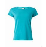Ballin Amsterdam Dames tape t-shirt turqoise blauw