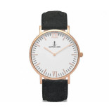 Kapten & Son Black vintage leather campina 4251145211547 geel goud
