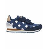 Woden Sneakers noradot navy blauw