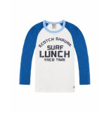 Scotch Shrunk Longsleeve surf lunch blue/white wit