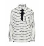 Tramontana Blouses stripe bow multi colour wit