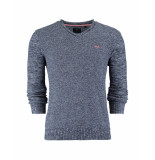New Zealand Auckland Sweater taavi blue melange blauw
