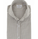 Seven Dials Overhemd striped combi white taupe