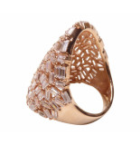 Christian Zilveren rose ring met zirkonia geel goud